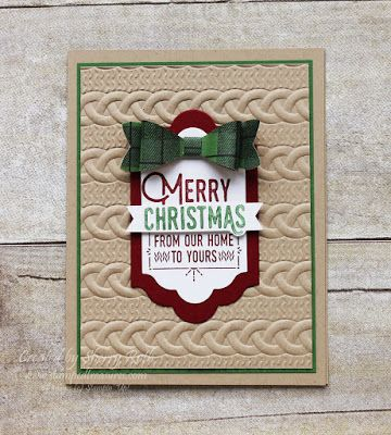 Sherry's Stamped Treasures: Wrapped in Warmth Christmas Card