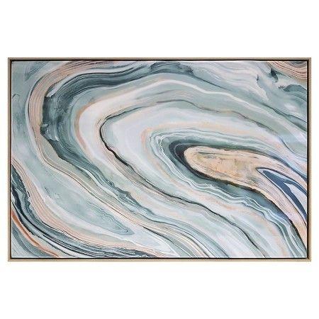 "Agate Framed High Gloss Canvas 36""x24"" - Threshold™ : Target"