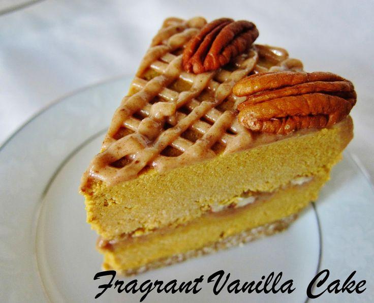 Pumpkin Pecan Caramel Ice Cream Cake from Fragrant Vanilla Cake