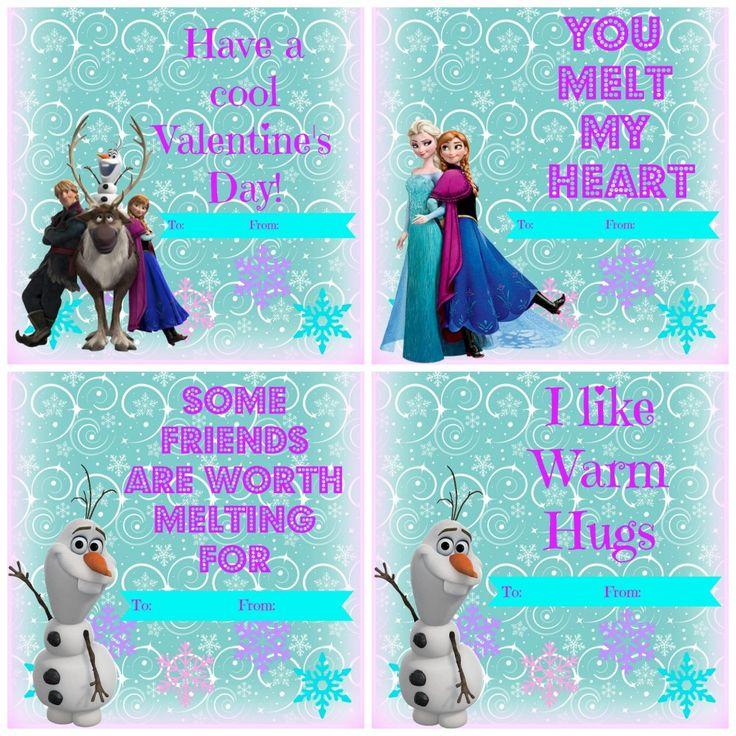 Frozen Valentine's Day free printables