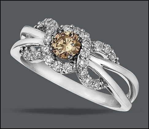 Another wonderful LeVian piece...this time at Macy's.: Diamond Rings, 14K Vanilla, Rich Chocolates, Diamonds Rings, Chocolates Diamonds, White Gold Rings, White Diamonds, Levian, Le Your