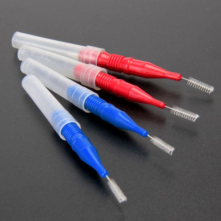 50 stücke Zahn Zahnseide Kopf Mundhygiene Dental Soft Kunststoff Interdentalbürste Zahnstocher Gesunde für Zahnreinigung Mundpflege
