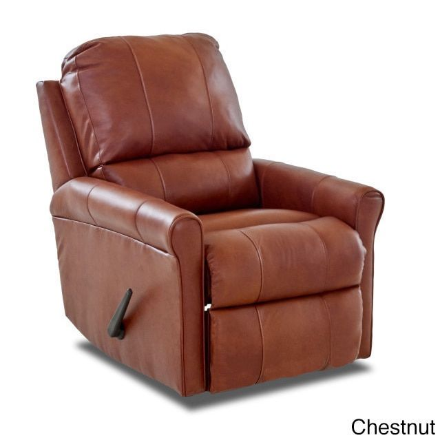 Klaussner Furniture Made to Order Baja Leather Reclining Rocking Chair (Baja Leather Reclining Rocking Chair -