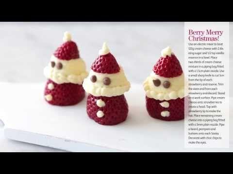 ▶ Cómo hacer un Papá Noel con fresas