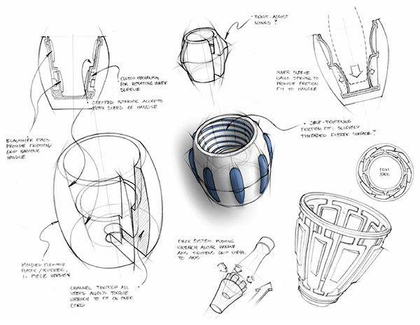 Ethicon Endo-Surgery is a world leader in endosurgical tools partially because they produce tools that surgeons find comfortable and easy to use.As a co-op at Ethicon, I contributed to various projects through sketching, CAD work and rapid prototyping.
