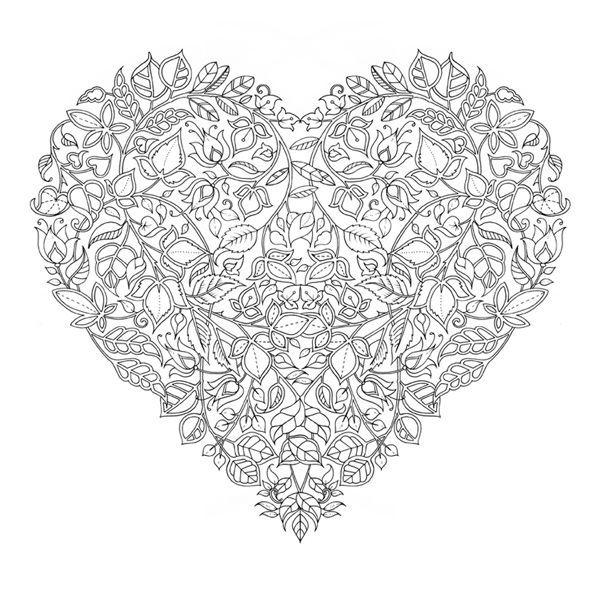 Coloriage Adulte Coeur.Coloriage Anti Stress Coeur