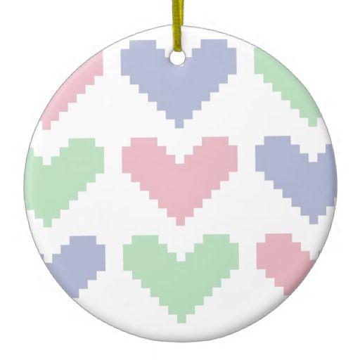 Pastel hearts decoration