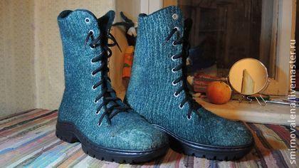 Мужские ботинки Кипятки - морская волна,смирнова елена,обувь ручной работы