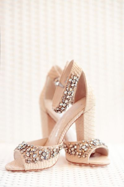 Alice and Olivia studded bridal heels: http://www.stylemepretty.com/destination-weddings/2014/10/14/destination-wedding-in-tunisia/ | Photography: Emm & Clau - http://emmandclau.com/