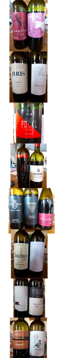Zweigelt, one of the trinity of Austrian red grape varieties, makes some interesting wines, all with plush, cushy tannins and very pretty fruit.  Here's my tasting notes and thoughts on this grape variety.