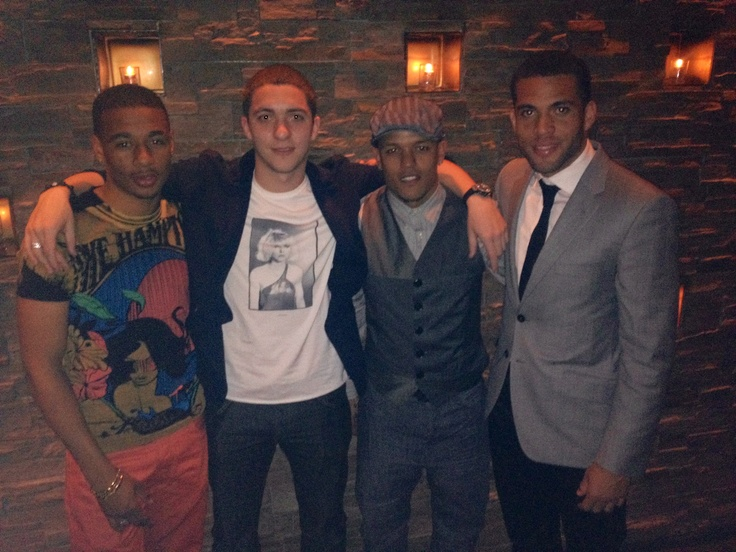 Toronto FC (MLS) newest players Reggie Lambe, Hogan Ephraim, Robert Earnshaw and Darel Russell visit Spice Route for dinner.