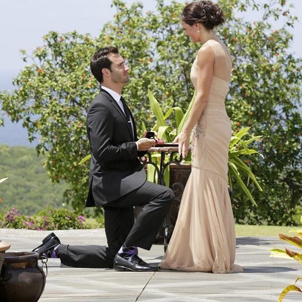 Desiree Hartsock and Chris Siegfried -   The Bachelorette's ninthseason aired in 2013 and featured the star Desiree Hartsock rejecting Drew Kenney and selecting Chris Siegfried.  Chris proposed marriage during the August 2013 finale and Desiree accepted.