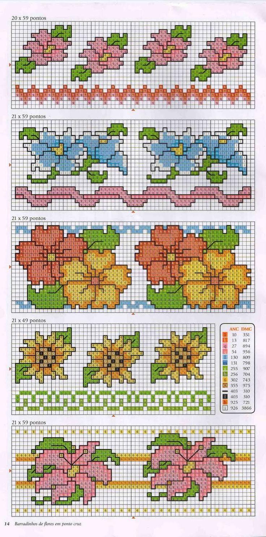 barradinhos+de+flores+ponto+cruz.jpg (794×1600)