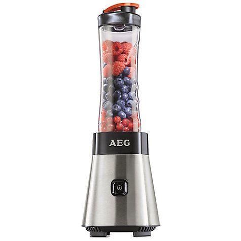 Buy AEG SB2500-u Sport Mini Mixer Food Blender Smoothie Maker, Stainless Steel Online at johnlewis.com