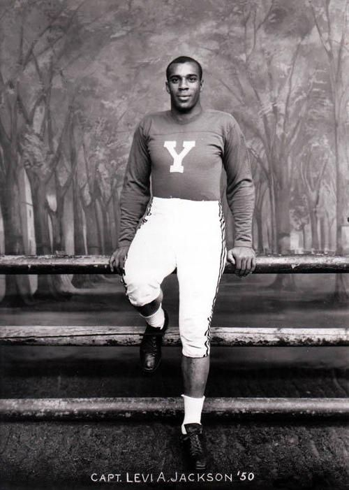 In 1948 Levi Jackson became the captain of the football team for Yale. This was a big leap for an ivy league college considering the year in which it occurred, and on one side is very inspirational. However on the other side we see the beginning of the stereotype that african american men are only good at sports, as there is little focus on his academic career.
