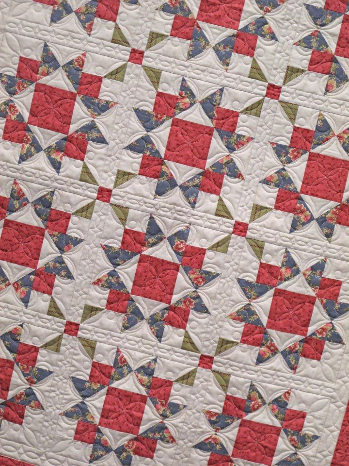 Isn't this pretty? It's called Tranquility and uses the Meadow collection by Blackbird Designs. Seen on the blog for Hollyhill Quilt Shoppe & Mercantile. http://hollyhillquiltshoppe.typepad.com/boughs-of-holly/#: