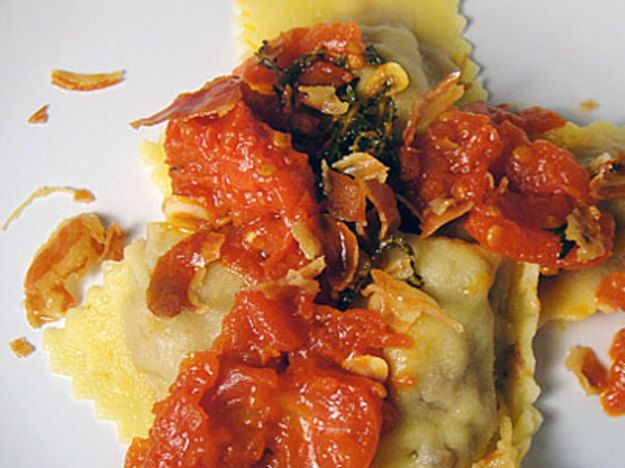 Cook the Book: Pork Agnolotti with Tomato Marmellata and Crisp Pancetta