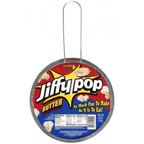 Du popcorn aussi rigolo à utiliser qu'à manger. Avec cette poêle prête à chauffer vous pourrez vous prendre pour le roi du feu de camp. Succès et plaisir garanti! #popcorn http://epicerieamericaine.fr/confiseries/137-jiffy-pop-butter-flavored-popcorn-45-oz-127g.html#.U3Rx3YF_tf8