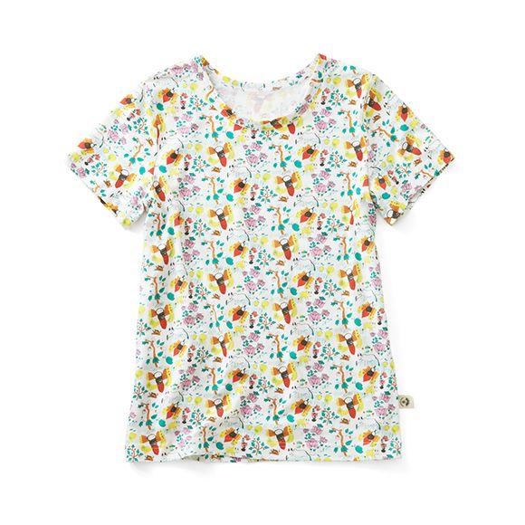 CONTINEW LABO for PBP インドのこどもが描いた総柄Tシャツ〈レディース〉 | CONTINEW LABO