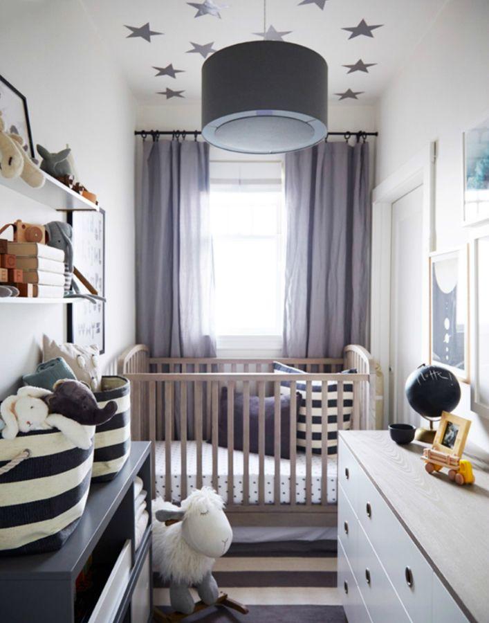 Habitaci n beb tonos gris y blanco decoraci n infantil - Habitaciones bebe pequenas ...