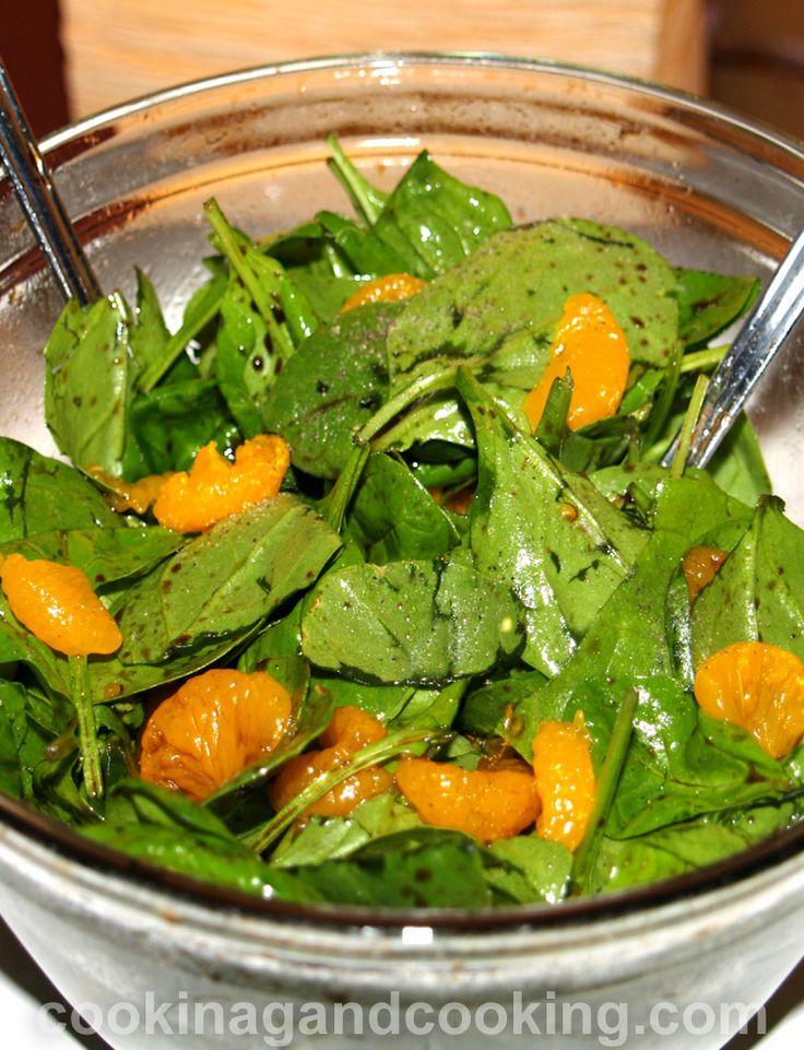 Ensalada de Espinacas con mandarina.