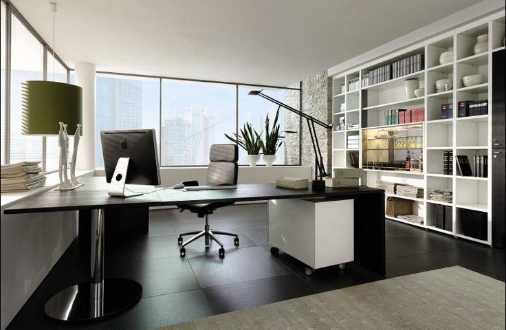 Imagen: oficina decorada en color blanco.