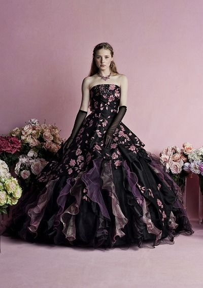 カラードレス ブラック・パープル系