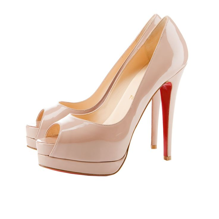 louboutin ALTADAMA PATENT 140 mm, Patent leather, NUDE, Women Shoes.