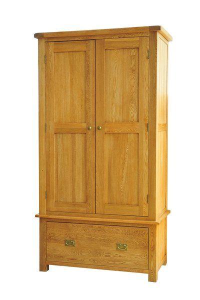 Suffolk solid oak wardrobe with drawer