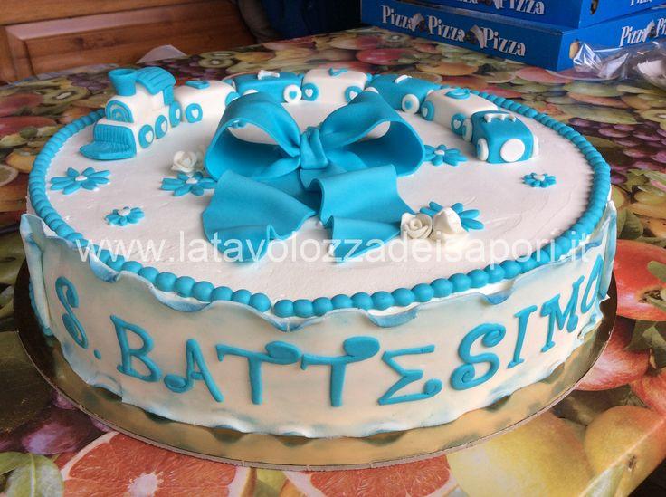 Torta Battesimo con Trenino in Pasta di Zucchero  http://www.latavolozzadeisapori.it/ricette/battesimo/torta-battesimo-con-trenino-in-pasta-di-zucchero