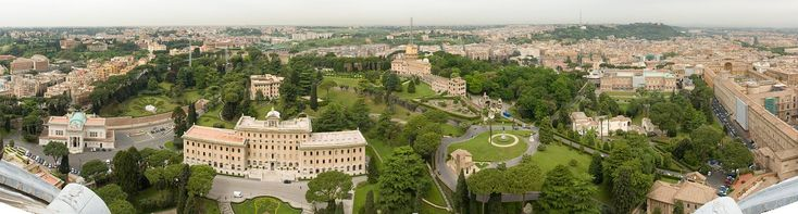 A panorama of the Vatican Gardens from atop St. Peter's Basilica ◆Vatican City - Wikipedia http://en.wikipedia.org/wiki/Vatican_City #Vatican