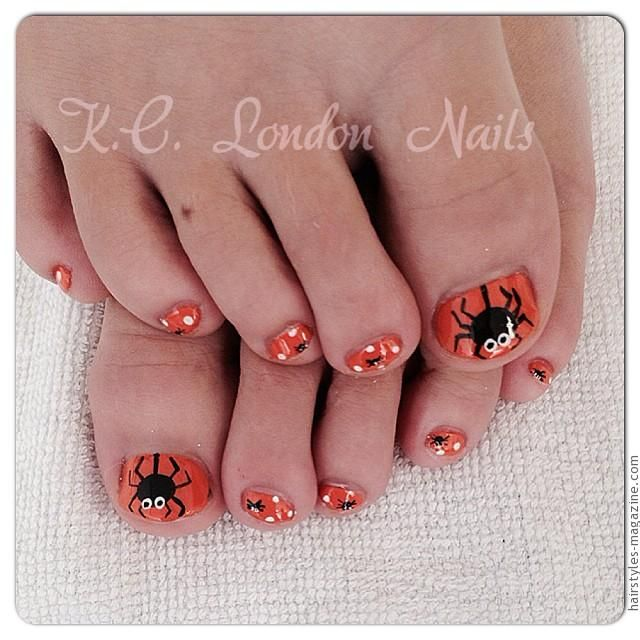 big spider toe nais Awesome Halloween Toe Nail Art Designs For Horror  Junkies! - Best 25+ Halloween Toe Nails Ideas On Pinterest Halloween Toes