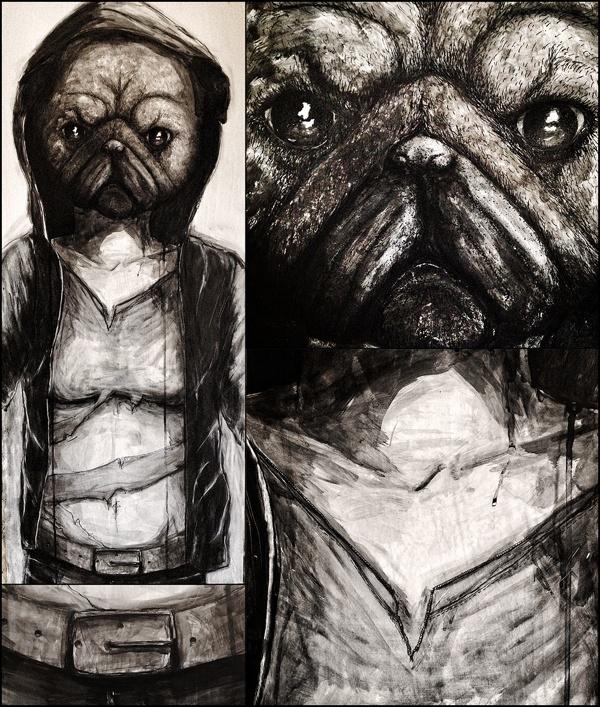 Underdog by Jonas Wüllner, via Behance #ink #drawing