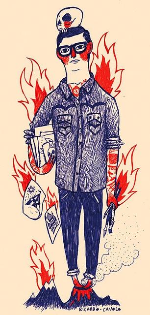 Ricardo Cavolo Portrait by Ricardo Cavolo, via Flickr #illustration #ricardocavolo #selfportrait