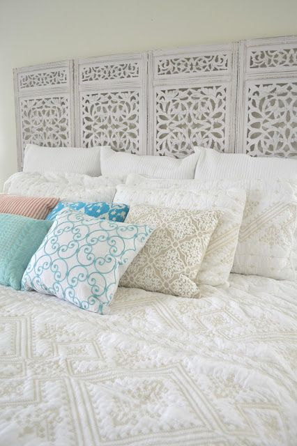 {Anthropologie Knock-Off} Inspired Privacy Screen to Headboard DIY | Tea Rose Home