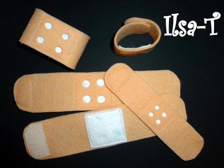 *Heftplaster-Set*    Kinder lieben es Arzt zu spielen.   Diese Heftplaster sind dafür perfekt geeignet, denn sie können durch den Klettverschluss imme