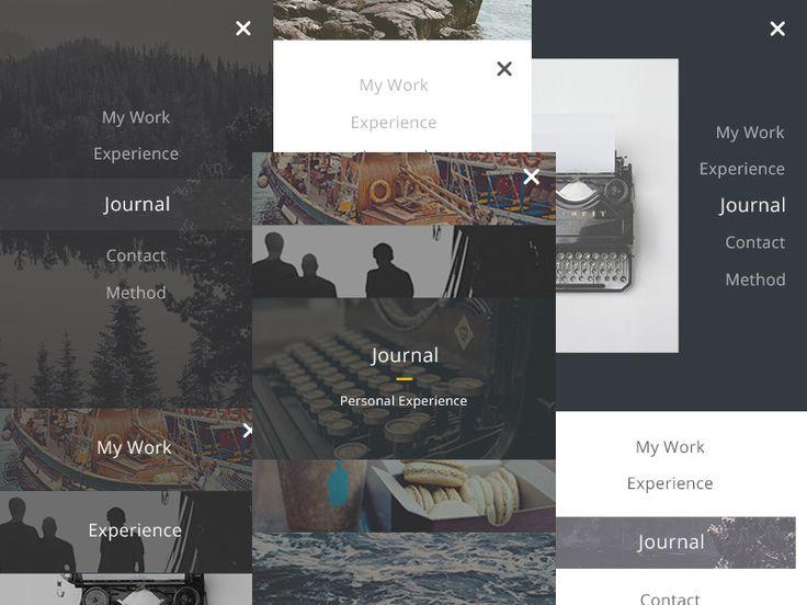 8 UI for Mobile Menu - Free PSD by Emiliano Cicero