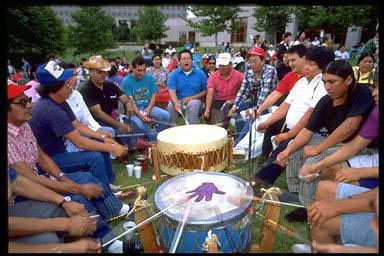 Drummers at a Cherokee Celebration in Tulsa, OK