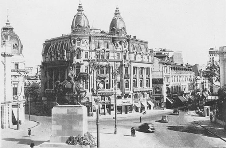 Bucuresti - Pe locul monumentului dedicat eroilor Revoluţiei se găsea o clădire impozantă care se asemăna cu actuala clădire a Bibliotecii Centrale Universitare şi care servea drept sediu Băncii Naţiunei