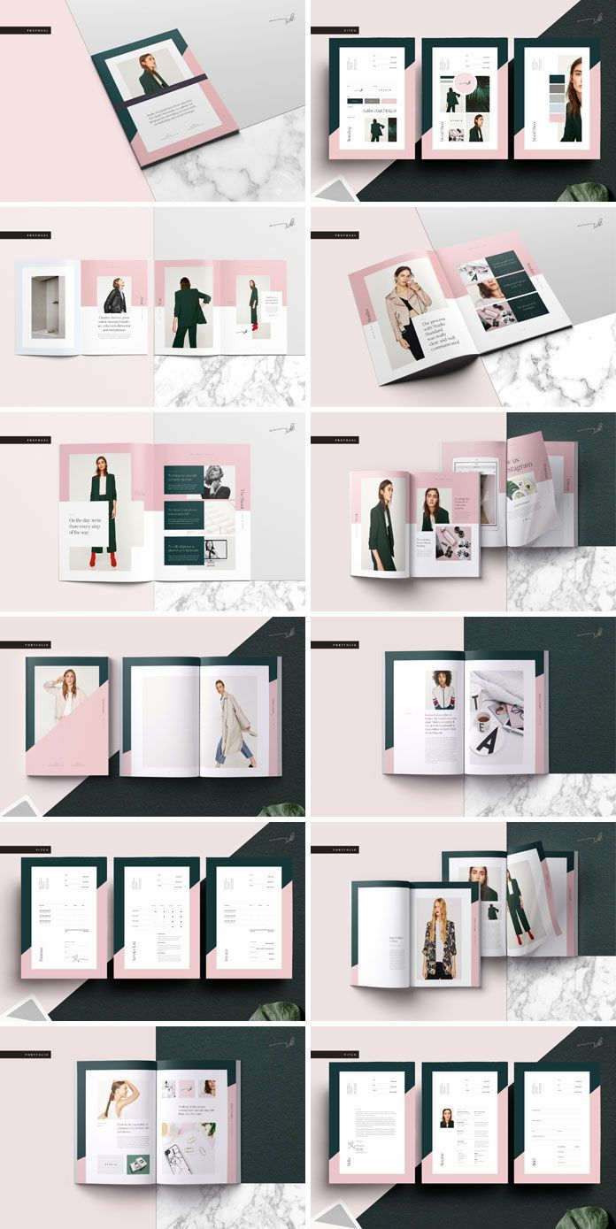 GALERIE Pitch Pack Adobe InDesign Template – #Adob…
