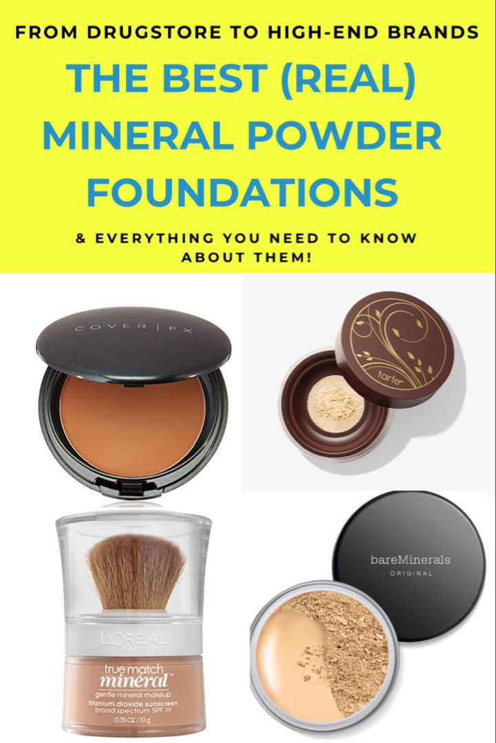 The 7 Best Real Mineral Foundations Of 2020 Best Foundation For Acne Mineral Foundation Bare Minerals Powder
