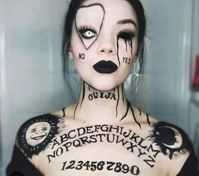 Ouija board Halloween Makeup.....f'n awesome!