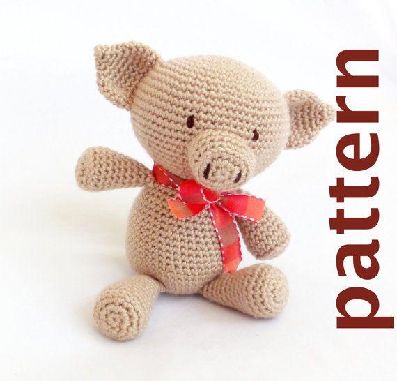 Amigurumi To Go Crochet Along Pig : PDF amigurumi pig pattern: Pong, the pig. Amigurumi ...
