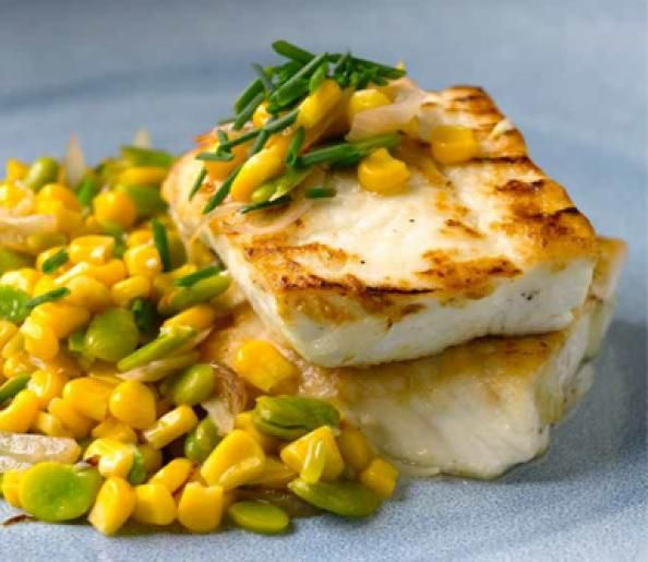 PAN-ROASTED HALIBUT If you've put the grill away for the season, break out the sauté pan and try this recipe for roasted fish served with co...