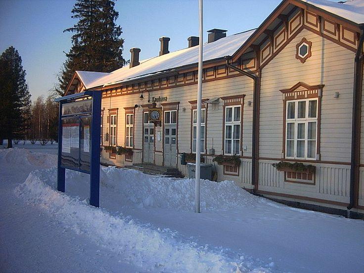 Railway station Kauhava, Finland.