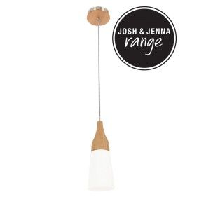 Odense Small Cone Pendant in Ash/Frosted Glass    Kitchen bench