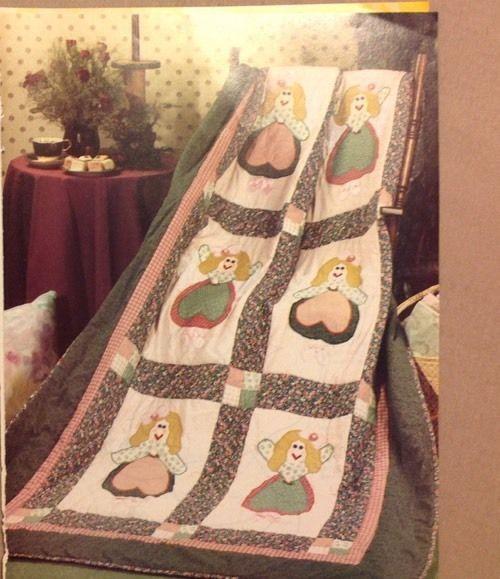 Vintage Ballet Angel Quilt Pattern Pieced Applique