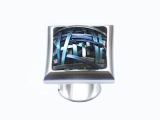 ring | silver, titanium  www.facebook/paulavieirajoias
