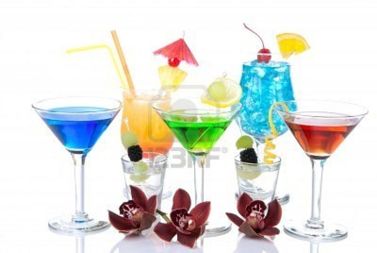 Different types of cocktail drinks