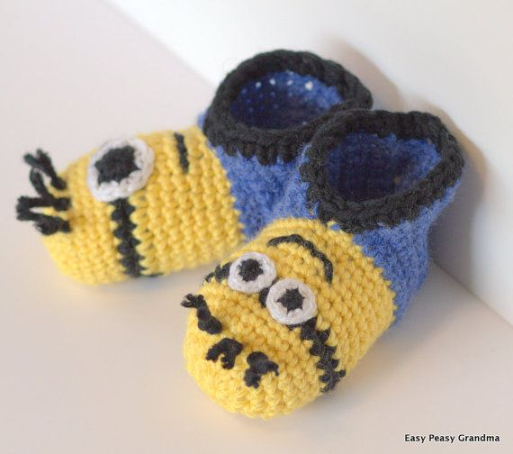 Free Crochet Pattern Minion Baby Booties : Pinterest The world s catalog of ideas